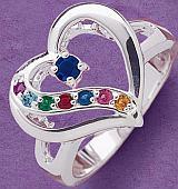 pierścionek zkamieniami