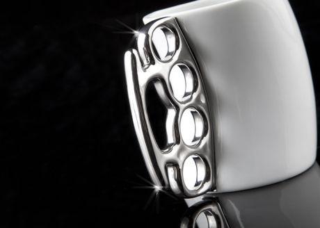 Kubek biały z kastetem